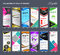 Roll Up Banner  template Collection, stand template vector
