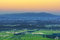 Morning lights and colors over Beaujolais land, France