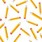 Seamless pattern with yellow pencils on white background. Back to school texture with comic pencils. Vector Illustration.