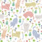 Seamless pattern with cats