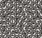 Vector Seamless Black And White Irregular Arc Lines Maze Pattern
