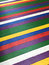 Multicolored painted colorful wooden boards floor background