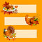 Thanksgiving Day banners with copy space for text
