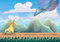 Cartoon vector landscape with meteor background with separated layers for game art and animation game design asset
