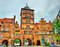 Burgtor, the northern gate of Lubeck, Germany
