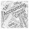 Accounting Finance Careers word cloud concept  background