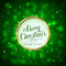Merry Christmas on green sparkle background