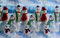 Christmas Winter Wrapping Paper Background
