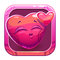 App icon with funny cute pink character