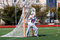 Lacrosse goalie ready to make a save