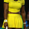 Twenty one times Grand Slam champion Serena Williams wears custom Nike uniform during her final match at Australian Open 2016
