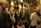 Evening socializing in front of the Cafe Iruna in Pamplona, Spain