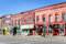 Historic Brick Buildings and Colorful Storefronts