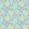 Abstract sketch drawing background vector seamless pattern in fashion retro style of Memphis italian design group 80s for.