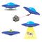 Vector set of flying saucers