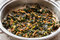 Roasted Spinach in pan.