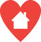 Heart with house