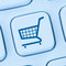 Online shopping e-commerce ecommerce internet shop concept blue