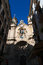 Skyline, the Church of Saint Mary of the Chorus, details, baroque, San Sebastian, Bay of Biscay, Basque Country, Spain, Europe