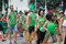 Saint Patrick`s Day parade participants