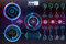 Futuristic user interface.HUD background outer space. Infographic elements. Digital data, business abstract background.