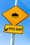 Speed bump sign with speed recommendation