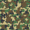 Pixel camo seamless pattern. Green, forest, jungle, urban, brown camouflages.