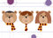 Teddy bears in Harry Potter, Ron Weasley and Hermione Granger disguise. Back to school vector illustration, flat style, checkered