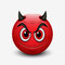 Devil emoticon isolated on white background - emoji - illustration