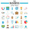 Business flat icon set, finance symbols collection