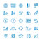 Air conditioning vector line icons. Temperature, humidity, drying, cooling and heating pictograms