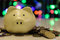 Piggy bank blurring dot color background