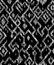 Ethnic abstract geometric ikat worn out pattern in black and white, vector