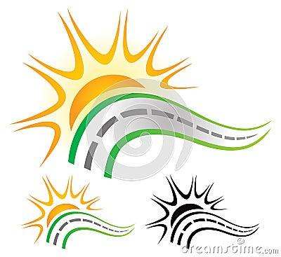 логотип дорога: