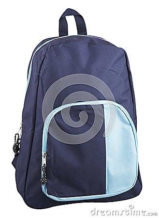 有裁减路线的蓝色背包.图片