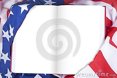 被包裹的美国空白书标志