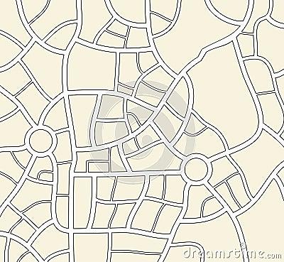 抽象地图线条素材
