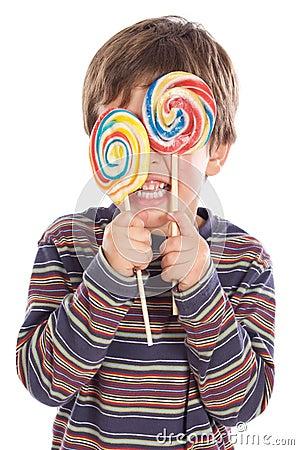 吃棒棒糖二白色的可爱的背景子项