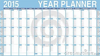 传染媒介日历在2015年.在星期天图片