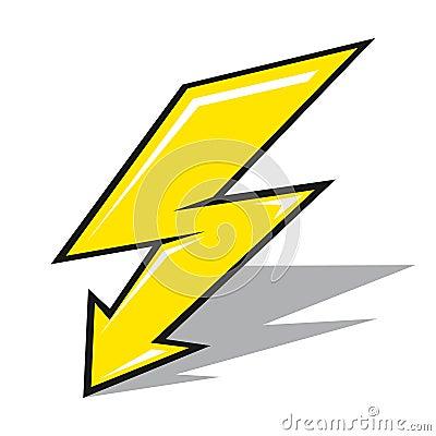 闪电符号矢量图