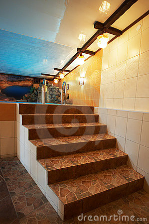 旅馆大理石现代池台阶.图片