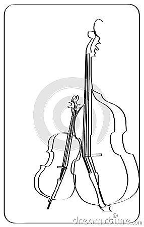 大提琴图画线路小提琴图片