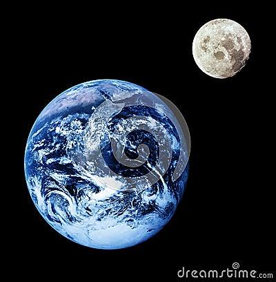 地球月亮 免版税库存照片