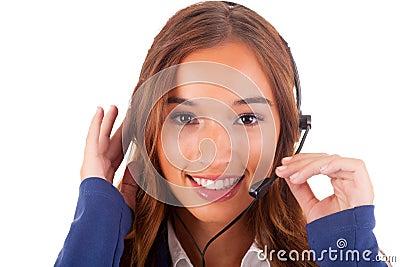 电话接线员 免版税库存图片