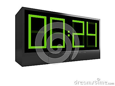 一个电子时钟的图标. 库存图片