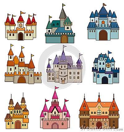 城堡简笔画 简笔画 公主故事