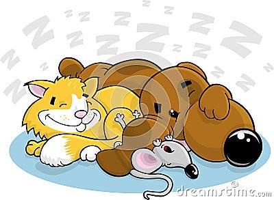 动画片猫狗鼠标图片