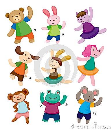 卡通动物舞蹈;;