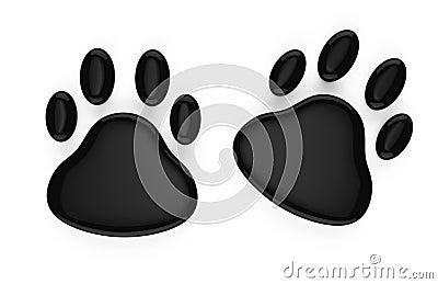 动物脚印标志 免版税库存图片