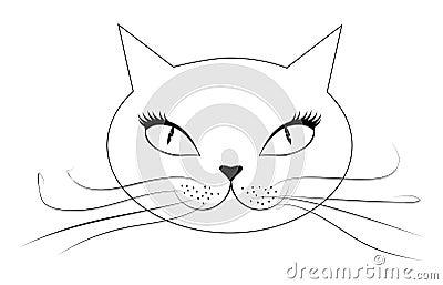 动画片猫面孔 库存图片图片